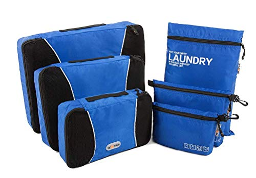 NEXTOUR Packing Cubes Organizers, Organizer per valigie Uomo Unisex per bambini Unisex adulti Bambini Donna blu Dark Blue