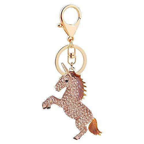 N/Een creatieve kristal dier sleutelhanger Strass eenhoorn auto sleutelhanger Persoonlijkheid paard sleutelhanger accessoires Charm sieraden