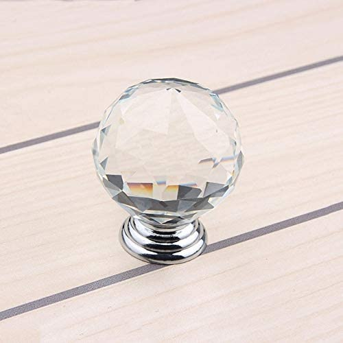 Fashionable 40mm 10pcs Clear Crystal Kitchen and Modern Cabinet Handle Knobs Ranking TOP6
