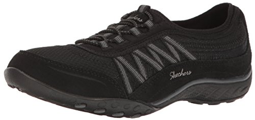 Skechers Damen Breathe Easy - Point Taken Sneaker, Schwarz (Black), 35 EU