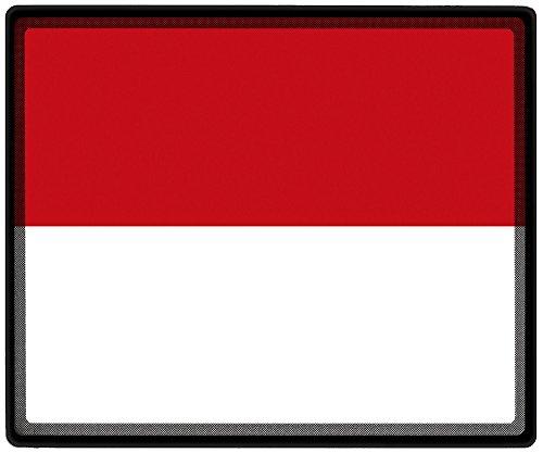 tappetino mouse con motivo–Monaco bandiera calcio scarpe da calcio–82110–Gr. ca. 24x 20cm