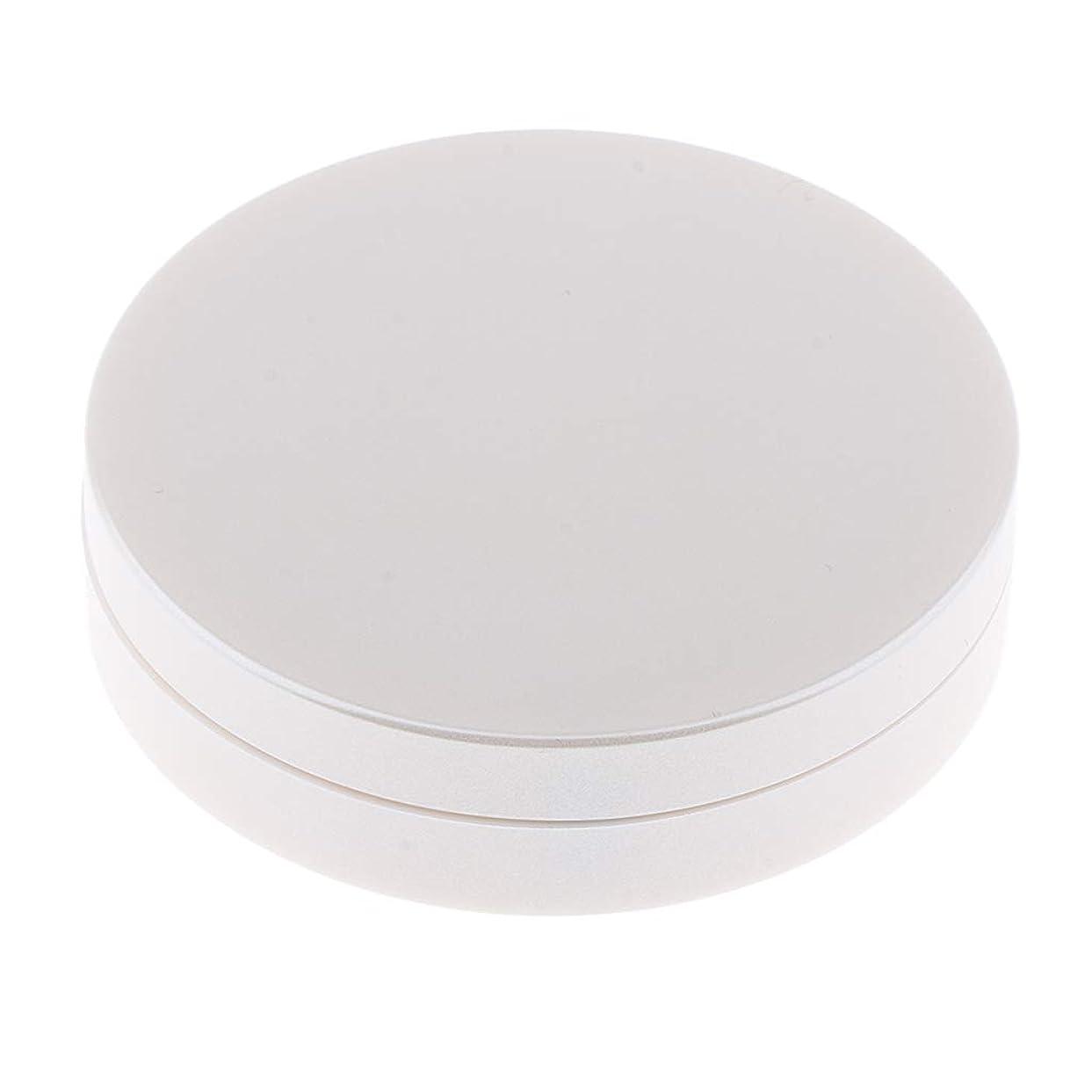 ずっと狂う暖かさB Blesiya パウダーケース 2層 メイクアップミラー メイクアップパウダー ハイライト コンシーラー 2色選べ - 白