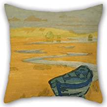 MaSoyy 18 X 18 Inches / 45 by 45 cm Oil Painting Arthur Wesley Dow - The Derelict (The Lost Boat) Pillow Covers Twice Sides Ornament and Gift to Wife Living Room Festival Monther Adults Club