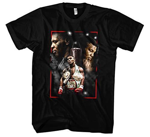 Mike Tyson Männer und Herren T-Shirt | Vintage Sport Boxen Retro Kult (XL, Schwarz Druck:Bunt)