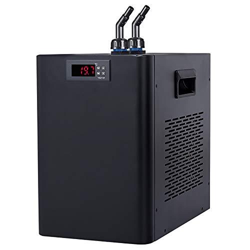 BAOSHISHAN 水槽クーラー 水槽冷却クーラー ウォータークーラーデジタルディスプレイ ウォーターポンプ付き 小型循環式クーラー 騒音が小さい 家庭用 5-36℃調整可能 水族館や魚屋や養魚場に適用 110V 黒い