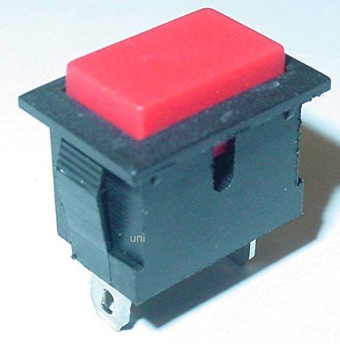 Taster, Klingeltaster, rechteckig, rote Taste, unbeleuchtet, 250V/6A, S136