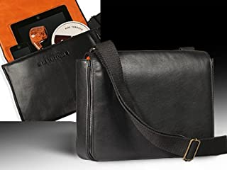 Erik Stokkebye 4th Generation Leather Tobacco Pouch Messenger Bag- Black