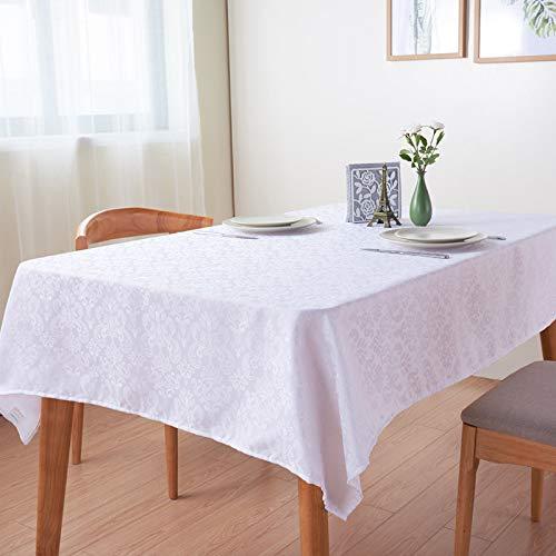 Liveinu Nappe Rectangulaire Tissu de Table Lavable Entretien Facile Résistant Imperméable Anti-tâche Nappe de Table pour Picnic Cuisine Jardin Terrasse Balcon Blanc 70x70cm