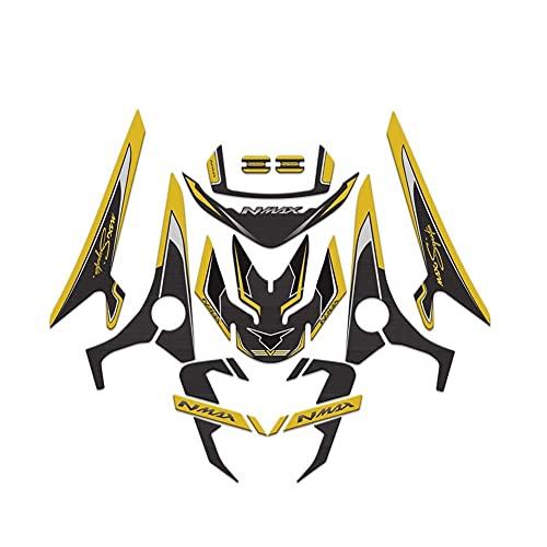 Protector DE Tanque Moto para Yam-AH-A N&M-AX 155 Nmax155 2020 Motocicleta 3D Carenado Delantero Trasero Cuerpo del Tanque De Combustible Kit Completo De Calcomanías De Protección De Moto Calcomanías