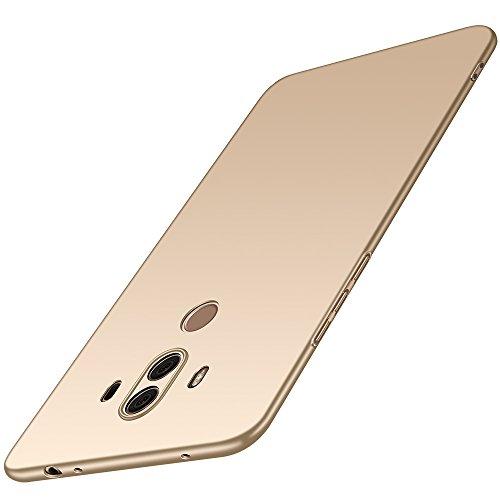 anccer Huawei Mate 10 Pro Hülle, [Serie Matte] Elastische Schockabsorption & Ultra Thin Design (Glattes Gold)