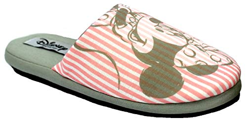de fonseca Disney Minnie Ciabatte Pantofole Cotone Donna MOD. Roma E W781 Rosa (Numeric_38)