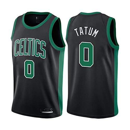 FRESHC Jerseys de Baloncesto Tatum 0# Bordado Hombre Chaleco, Celtics Swingman Ventilador Versión Camisa de Baloncesto Top sin Mangas XL