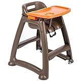 SOAR Chaise Haute Bébé Chaise Haute for Enfants, Table de bébé d'hôtel, siège Enfant, en Plastique, avec Coussin (Color : #1)