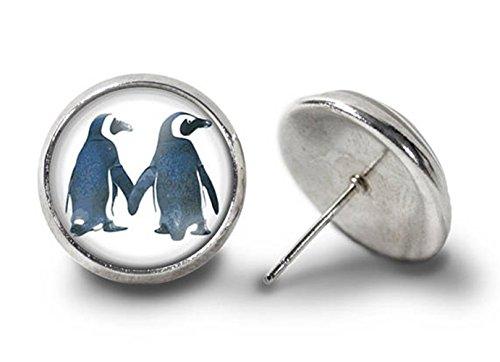 Penguin - Pendientes para pareja, diseño de pingüino