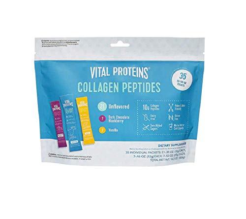 Collagen Peptide Powder Stick Supplement Kosher Vital Proteins Hydrolyzed Collagen on The go, Dairy Free, Gluten Free Paleo, Keto Friendly 14.3 OZ (35 Packets)