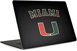 Skinit Decal Laptop Skin for MacBook Pro 15-inch with Touch Bar (2016-19) - Officially Licensed College University of Miami The U Design