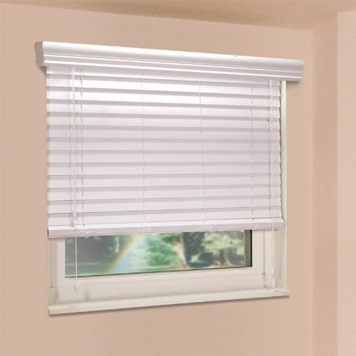 Fauxwood Impressions 48003450 Finally popular brand 34.5-Inch Window San Francisco Mall Blinds by 48-Inch