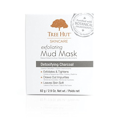Tree Hut Skincare Exfoliating Mud Mask, Detoxifying Charcoal, 2.9 Ounce