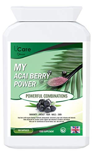 My Acai Berry Power // Antioxidants Immunity Heart Health Energy and Active Lifestyle Weight Loss Skin, Hair and Nails Bone and Joint Support