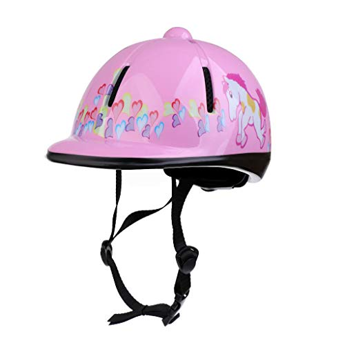 Xiaozxwlhq Adjustable Horse Riding Hat Equestrian Kids Protective Gear Helmet (Pink)