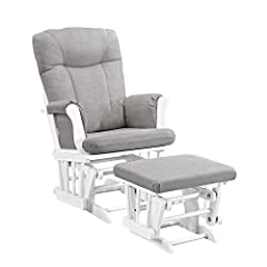 """Generous seating room with padded arms and storage pockets Enclosed metal bearings for smooth gliding motion Removable chair cushions for easy spot cleaning Solid wood frame This """"Monterey glider with ottoman"""" is the perfect product to complete your ..."""