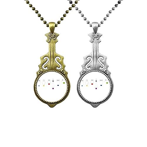 Kabel-Muster für die Aufladung der Steckdose Liebhaber Musik Gitarre Anhänger Schmuck Halskette Anhänger
