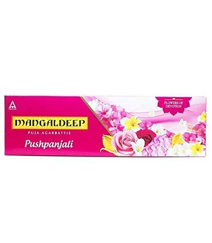 Mangaldeep Pushpanjali Incense Sticks, Flowers of Devotion, 80 Sticks