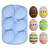 LEMESO Molde de Chocolates para Huevos Pascua de Silicona Chocolates DIY Moldes de Huevo Repostería para Niños Creativos