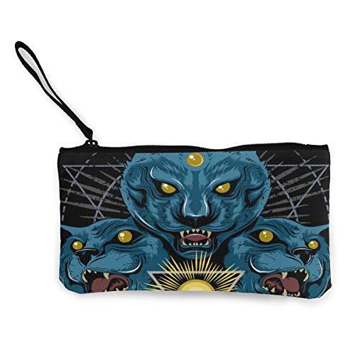 Bearget kat tijger panter jaguar hoofd vector afbeelding schattig canvas verandering munt portemonnee zak zak rits houder portemonnee pols riem make-up potlood geval voor vrouwen meisjes aangepast