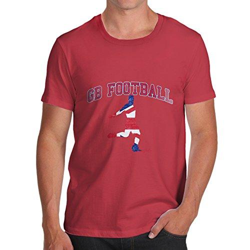 TWISTED ENVY Herren T-Shirt GB Football Print X-Large Rot