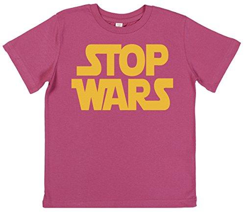Phunky Buddha - Stop Wars Kleinkind Mädchen T-Shirt 3-4 Jahre - Rosa
