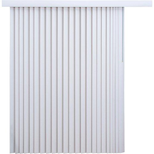 White 3.5 in. PVC Vertical Blind - 78 in. W x 84 in. H
