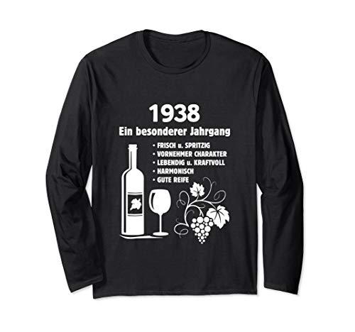 Geburtstag Geschenk Wein Vintage - Besonderer Jahrgang 1938 Langarmshirt