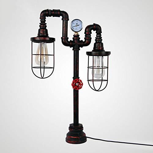 Amerikaanse smeedijzeren staande lamp, industriële creatieve led-sanitairlamp, decoratieve bar, verticale lamp, moderne retro slaapkamer, woonkamer, werkkamer, decoratie, staande lamp verlichting