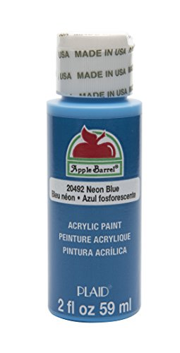 Apple Barrel Acrylic Paint in Assorted Colors (2 oz), 20492, Neon Blue