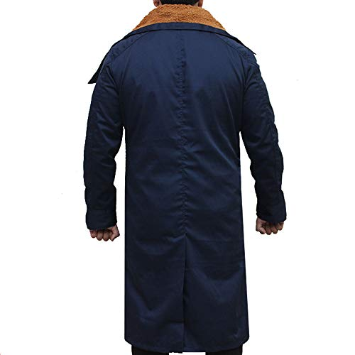 Miracle Trading Blade Runner 2049 Abrigo - Ryan Gosling Military Army Blue Cotton Coat