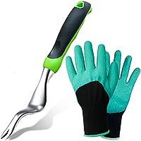 Tenozek Stainless Weed Puller & Gardening Gloves
