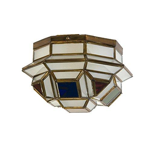 Plafón Granadino Artesanal Modelo Bizantino 7002/1EVOC (Envejecido -Cristal Opal Color)