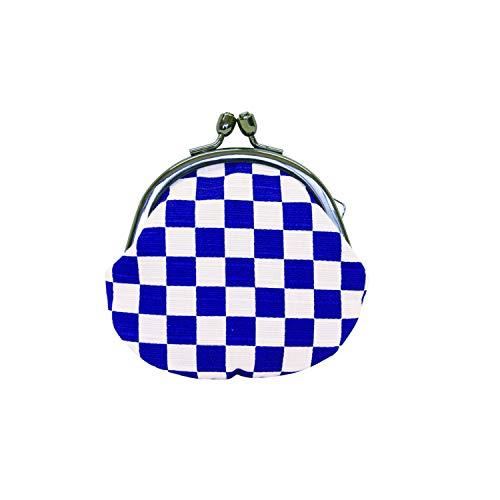 藍の市松 2.5丸 小銭入れ 117877