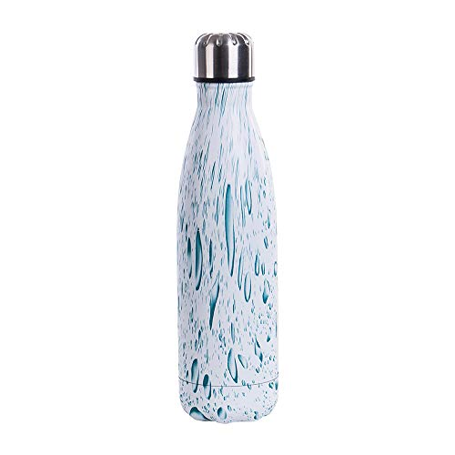 Botella de agua isotérmica termo de acero inoxidable, 500 ml, reutilizable, de doble pared, sin BPA, para deportes, camping, color 9, tamaño talla única