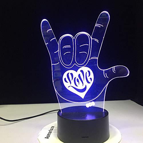 Sanzangtang Led-nachtlampje, 3D-vision-septkleuren, afstandsbediening met tekst