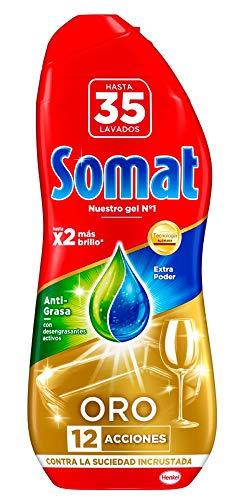 Somat Oro Gel Lavavajillas Antigrasa - 35 Lavados - 630 ml