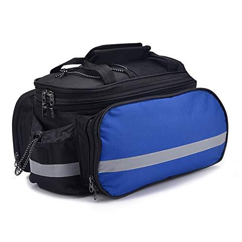 RBB-Fietstas Fietstas achterbank Mountain Road Fiets Pannier Voor Reizen Fiets Trunk Bag Dubbele Panniers Met Regenhoes 27L Zwart