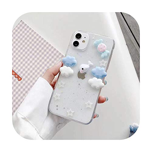 3D Lovely Dolphins Candy Phone Cases for iPhone 7 8 Plus Xs Xsmax Xr Glossy Clear Soft Tpu Case for iPhone 11 Back Cover Capa-clear-for iphone X Xs