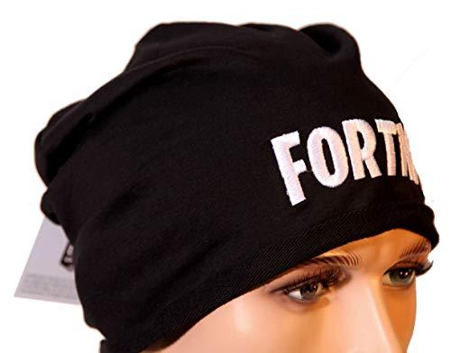 Epic Games Berretta Fortnite Nera Scritta Logo Originale Merchandising Ufficiale (Nero)