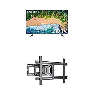 "Samsung UN65NU7100FXZC 65"" 4K Ultra HD Smart LED TV (2018) and Sanus MLF13-B1 Universal Wall Mount (B07KTKMX7S) | Amazon price tracker / tracking, Amazon price history charts, Amazon price watches, Amazon price drop alerts"