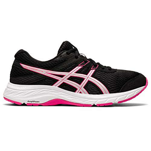 ASICS Women's Gel-Contend 6 Running Shoe, Black Pink Glo, 10 UK