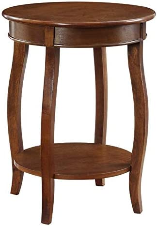BOWERY free HILL Special sale item Hazelnut Round in End Table Kraven