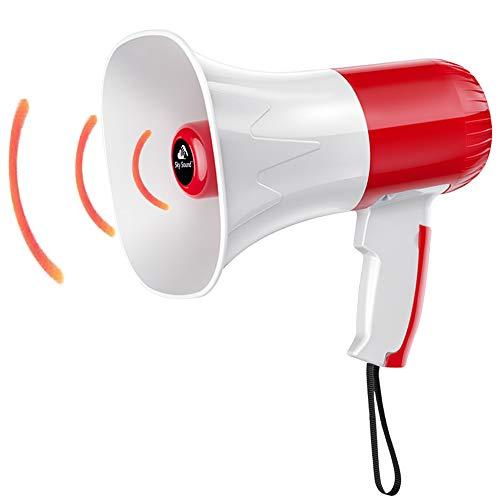 CIFY USB Super Loud Megaphone, Handheld Megaphone Speaker, Built-In Siren &...