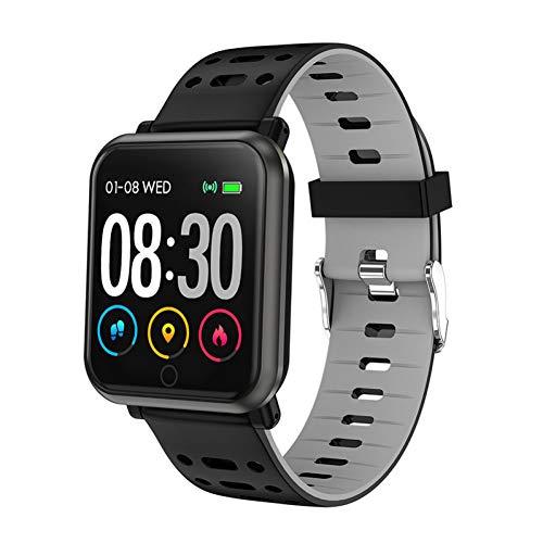 YLBHD Smart Watch Männer Frauen Wasserdicht Mehrfachsportmodus Herzfrequenz Blutdruck Smartwatch Wettervorhersage Bluetooth